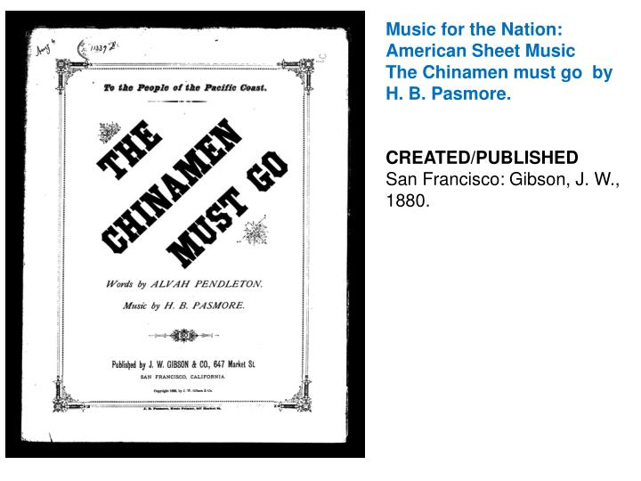 Music for the Nation: American Sheet Music