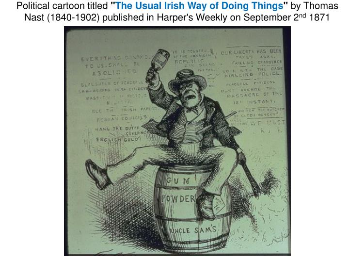 Political cartoon titled