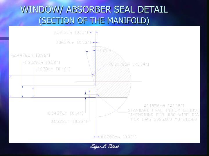 WINDOW/ ABSORBER SEAL DETAIL