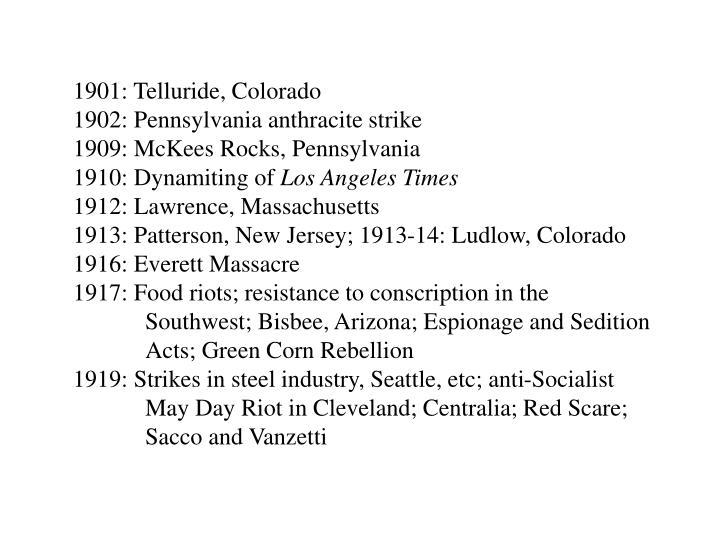 1901: Telluride, Colorado