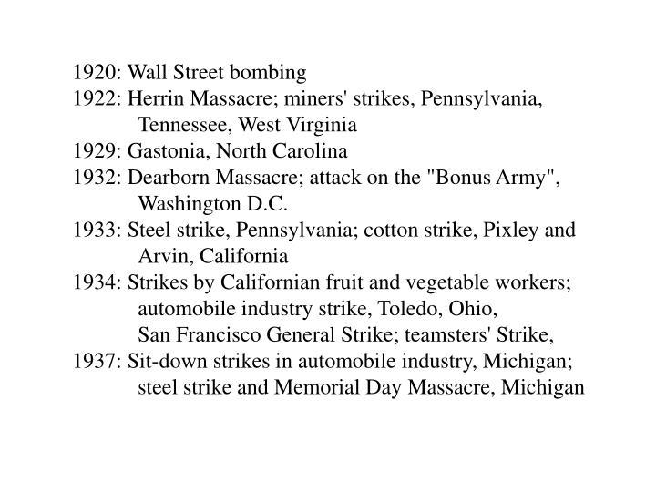 1920: Wall Street bombing