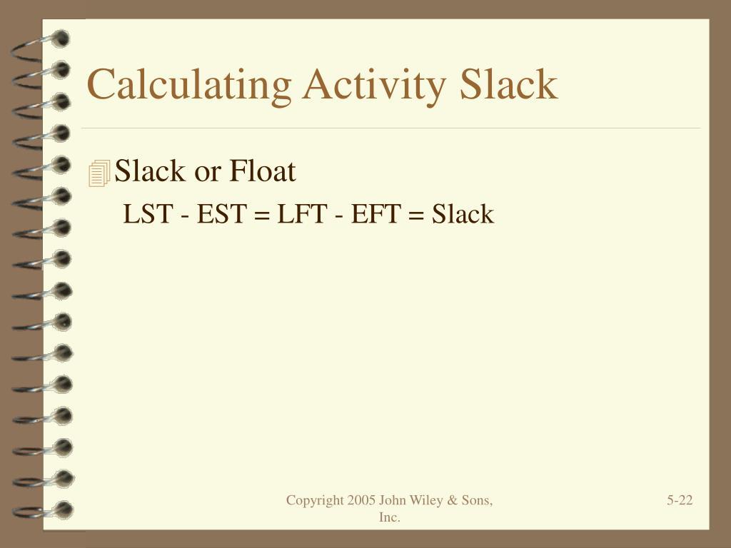 Calculating Activity Slack