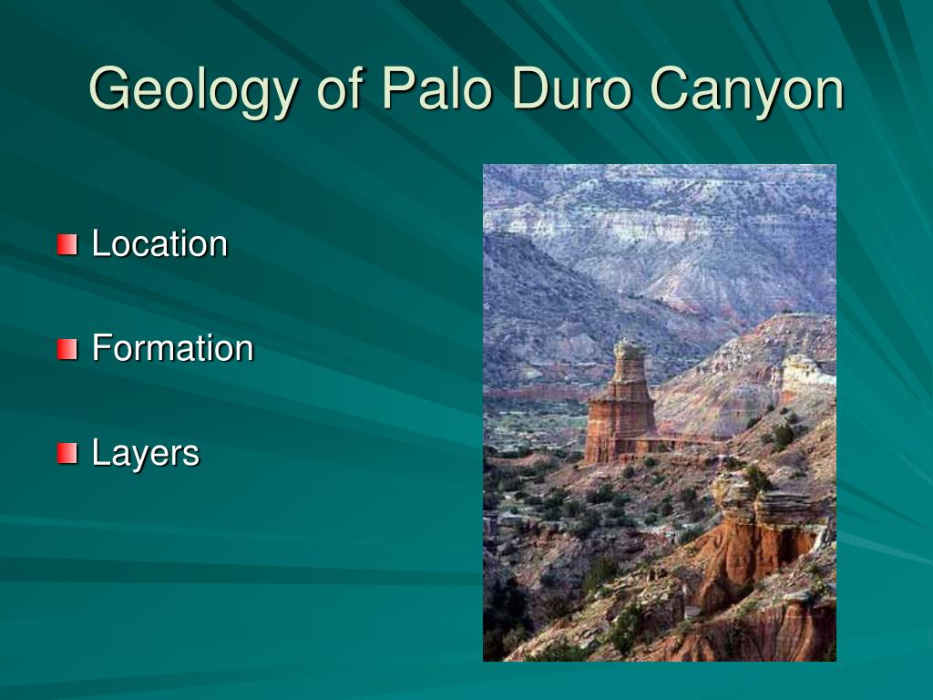 Geology of Palo Duro Canyon