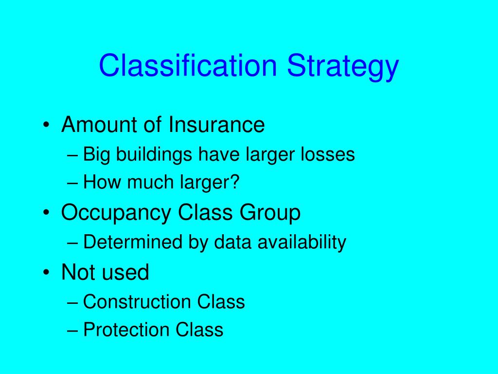 Classification Strategy
