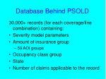 database behind psold