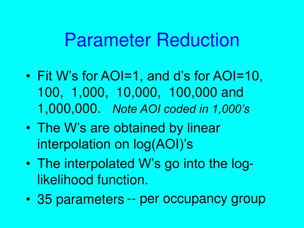 Parameter Reduction