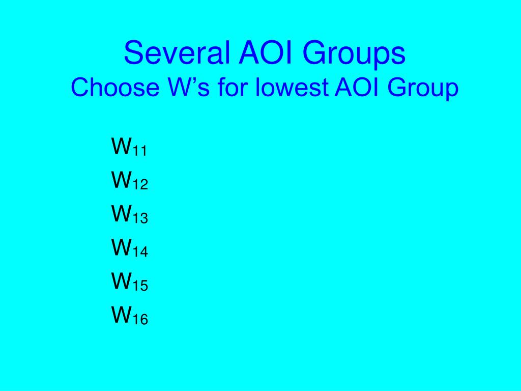 Several AOI Groups
