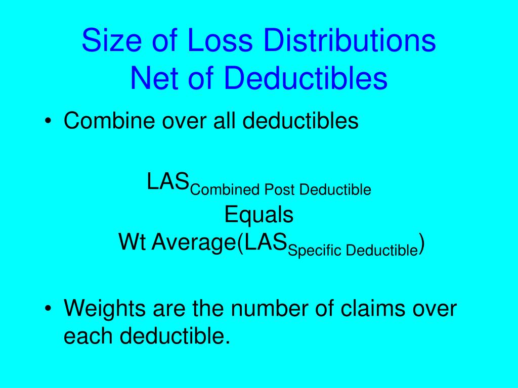 Size of Loss Distributions
