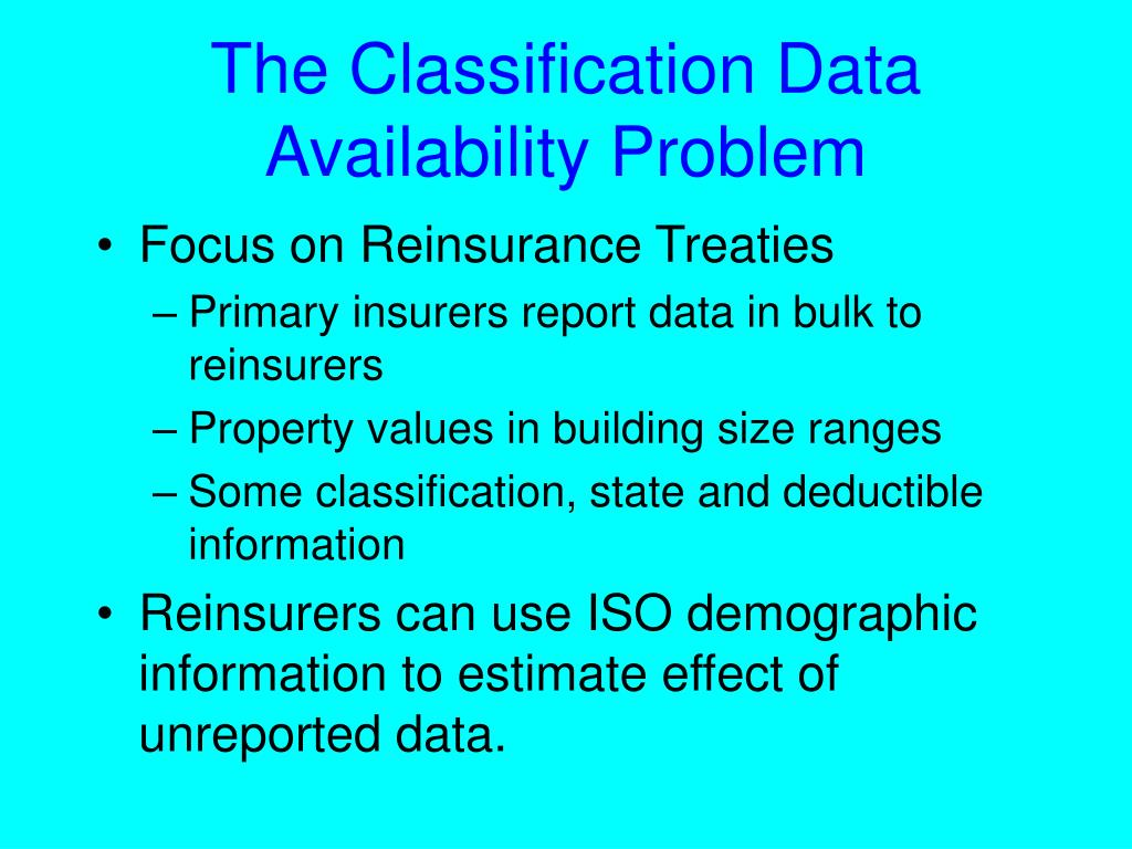 The Classification Data Availability Problem