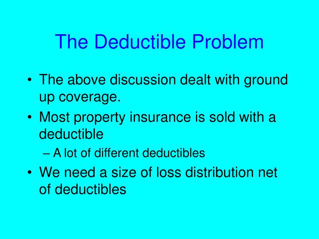 The Deductible Problem