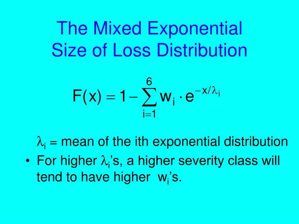 The Mixed Exponential