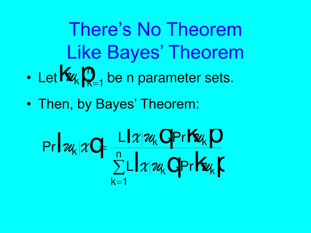 There's No Theorem