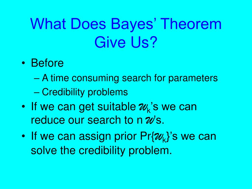 What Does Bayes' Theorem Give Us?