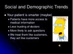 social and demographic trends56
