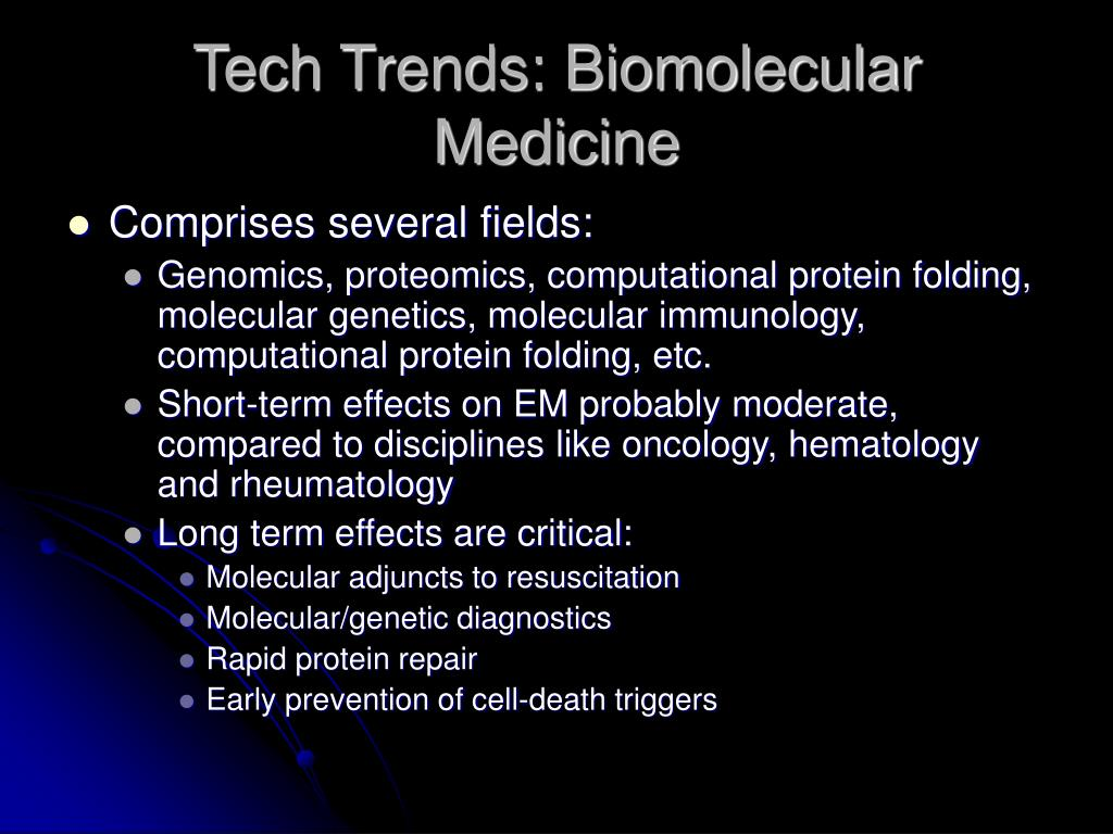 Tech Trends: Biomolecular Medicine