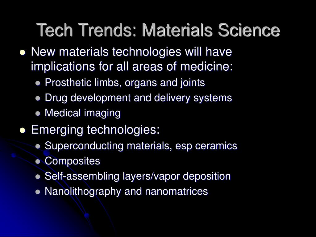 Tech Trends: Materials Science