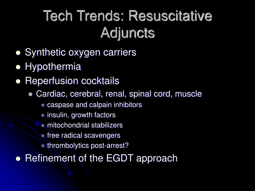 Tech Trends: Resuscitative Adjuncts