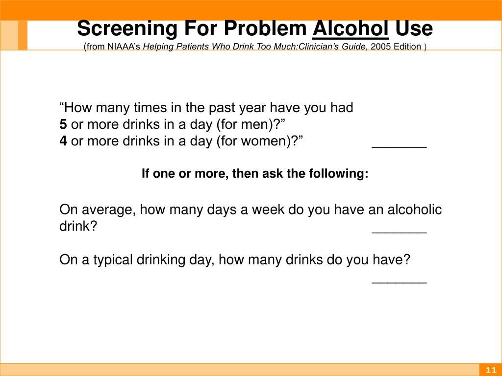 Screening For Problem