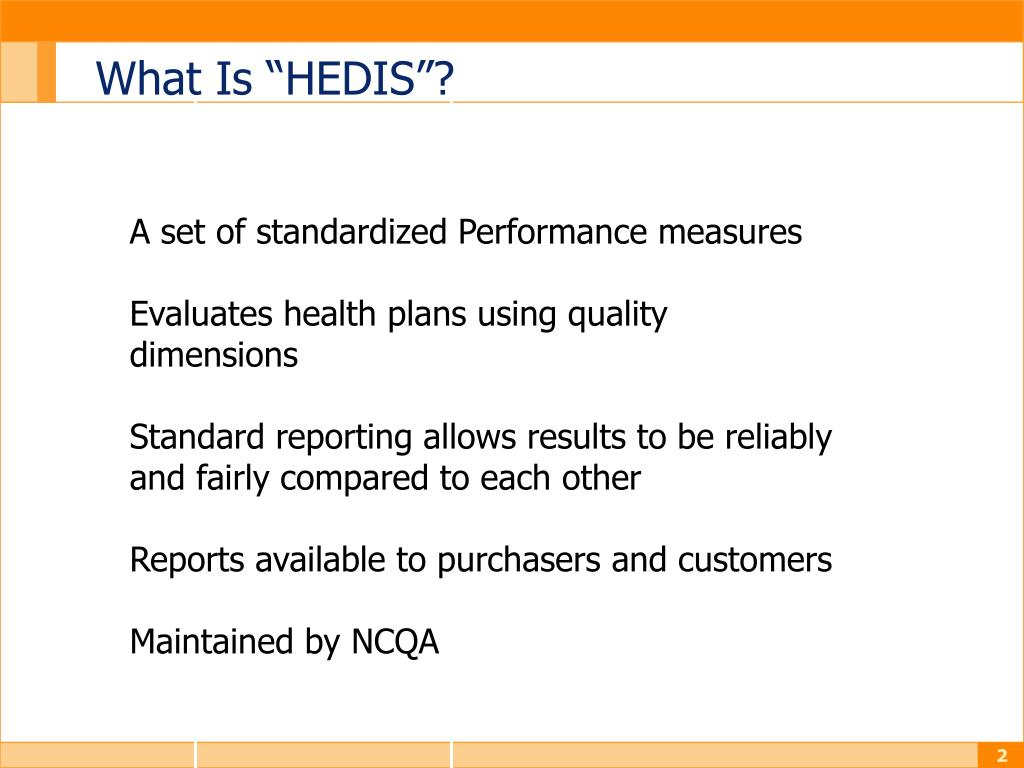 """What Is """"HEDIS""""?"""