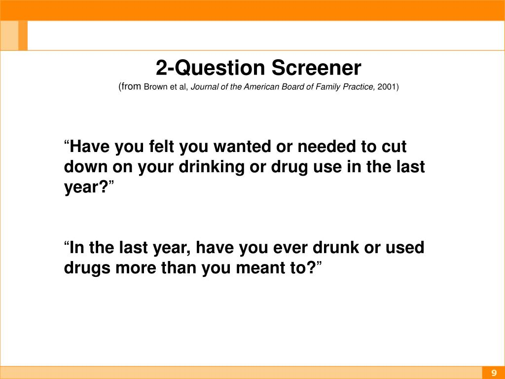 2-Question Screener