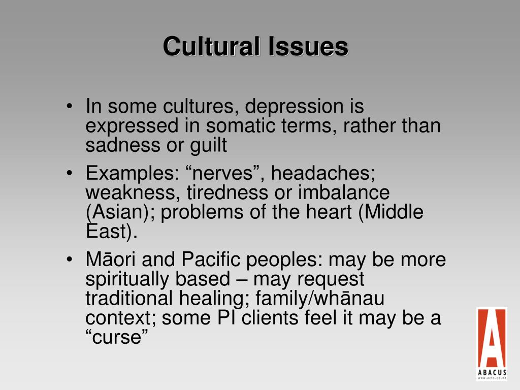 Cultural Issues