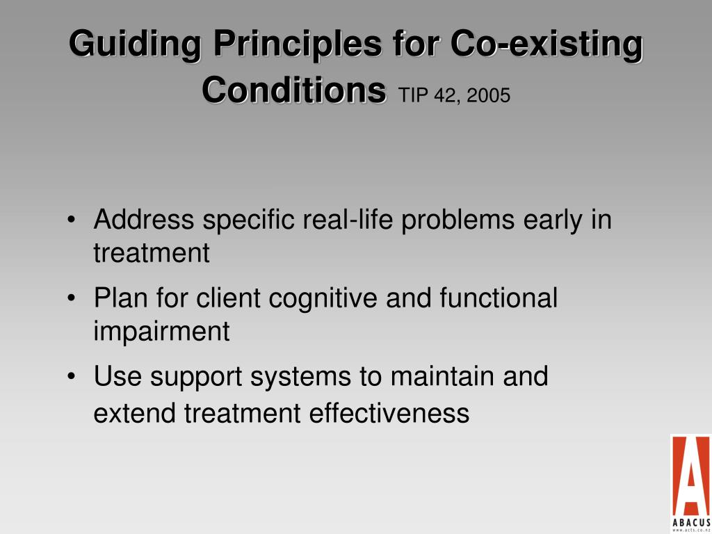 Guiding Principles for Co-existing Conditions
