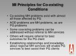 mi principles for co existing conditions35
