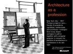 architecture as a profession