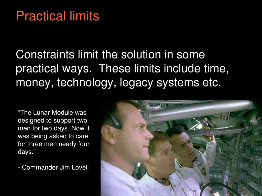 Practical limits