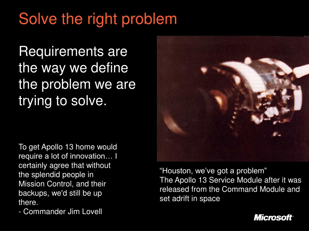 Solve the right problem