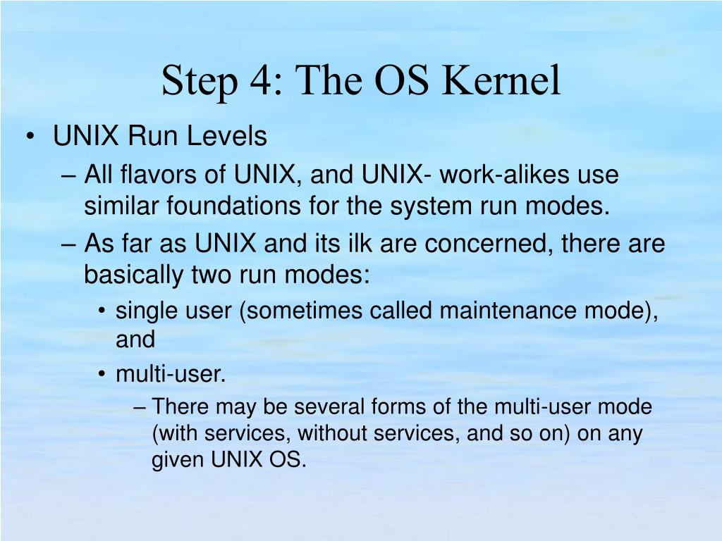 UNIX Run Levels
