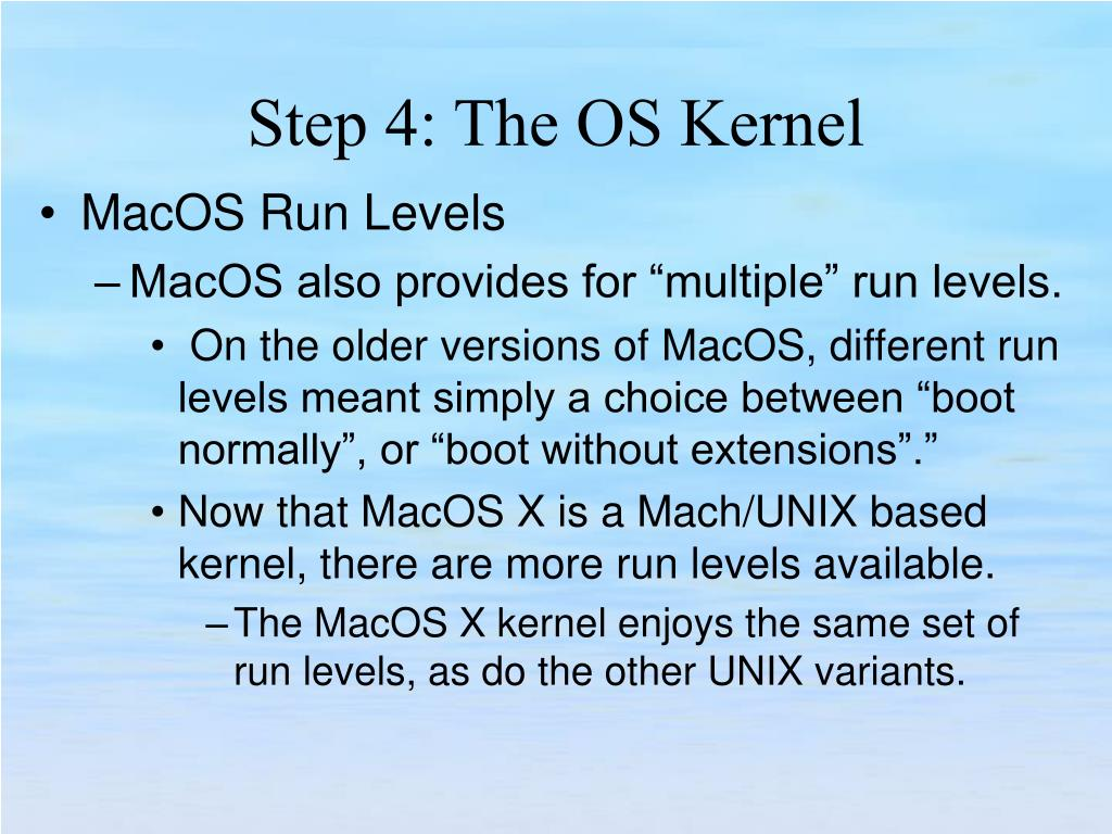 MacOS Run Levels