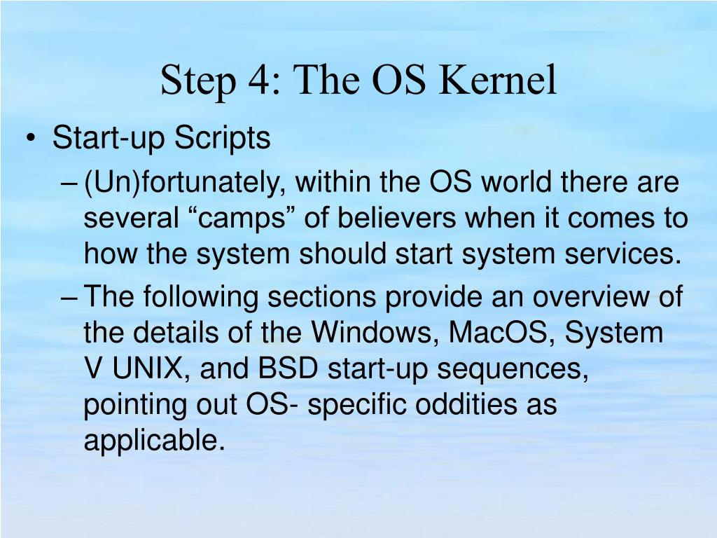 Start-up Scripts