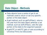date object methods