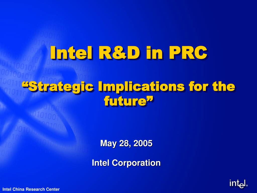 intel r d in prc strategic implications for the future