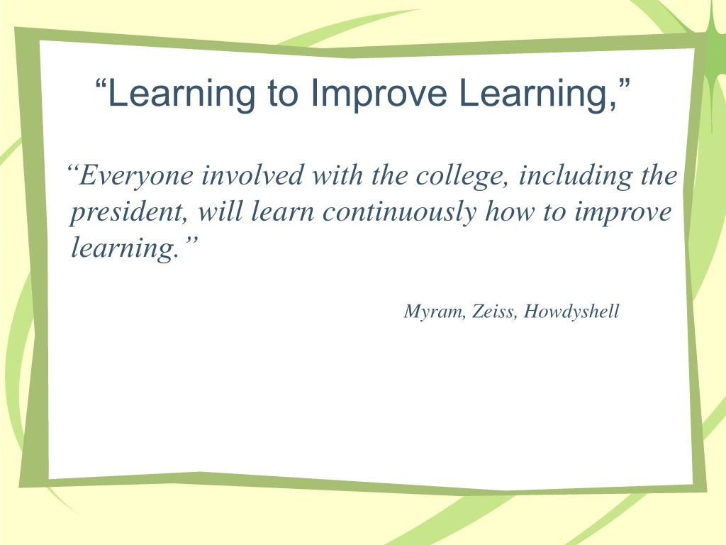 """""""Learning to Improve Learning,"""""""
