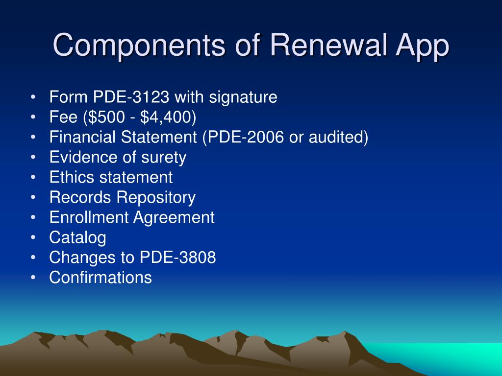Components of Renewal App