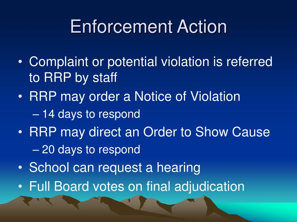 Enforcement Action