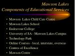 mawson lakes components of educational services