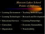 mawson lakes school points of difference