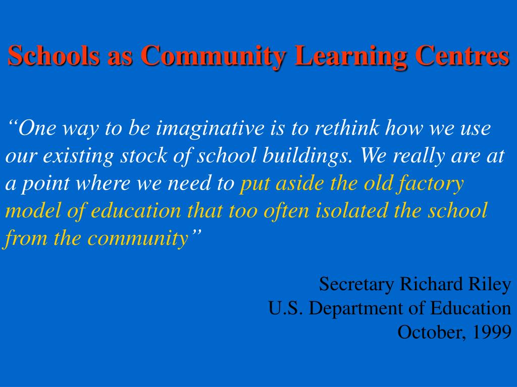 Schools as Community Learning Centres