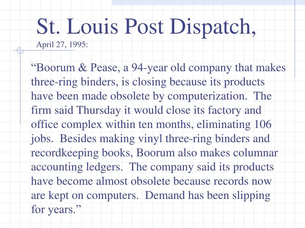 St. Louis Post Dispatch,