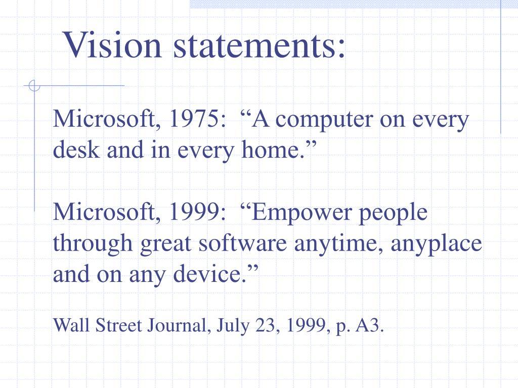 Vision statements: