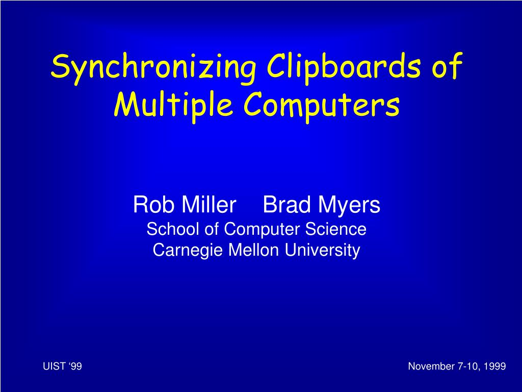 Synchronizing Clipboards of Multiple Computers