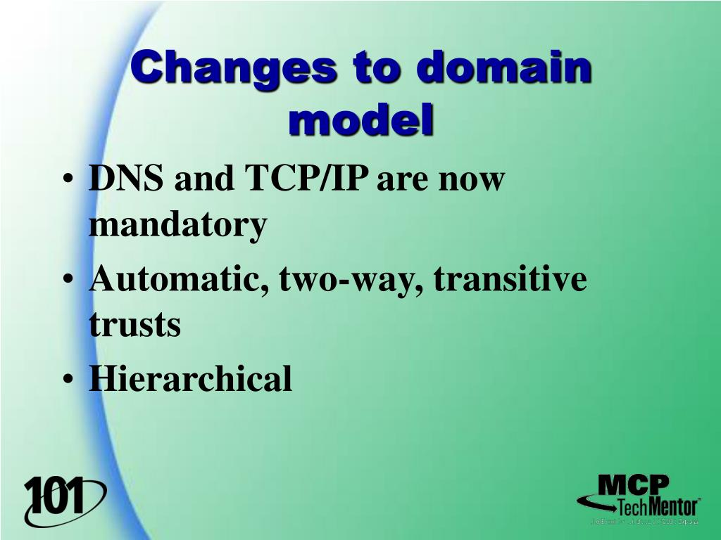 Changes to domain model