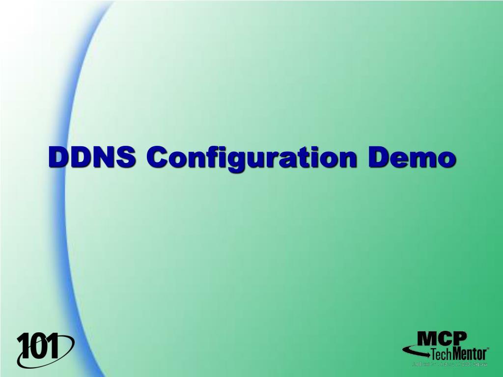 DDNS Configuration Demo