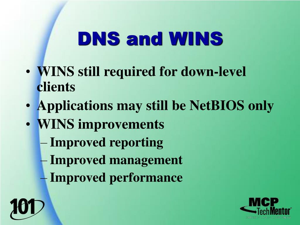 DNS and WINS