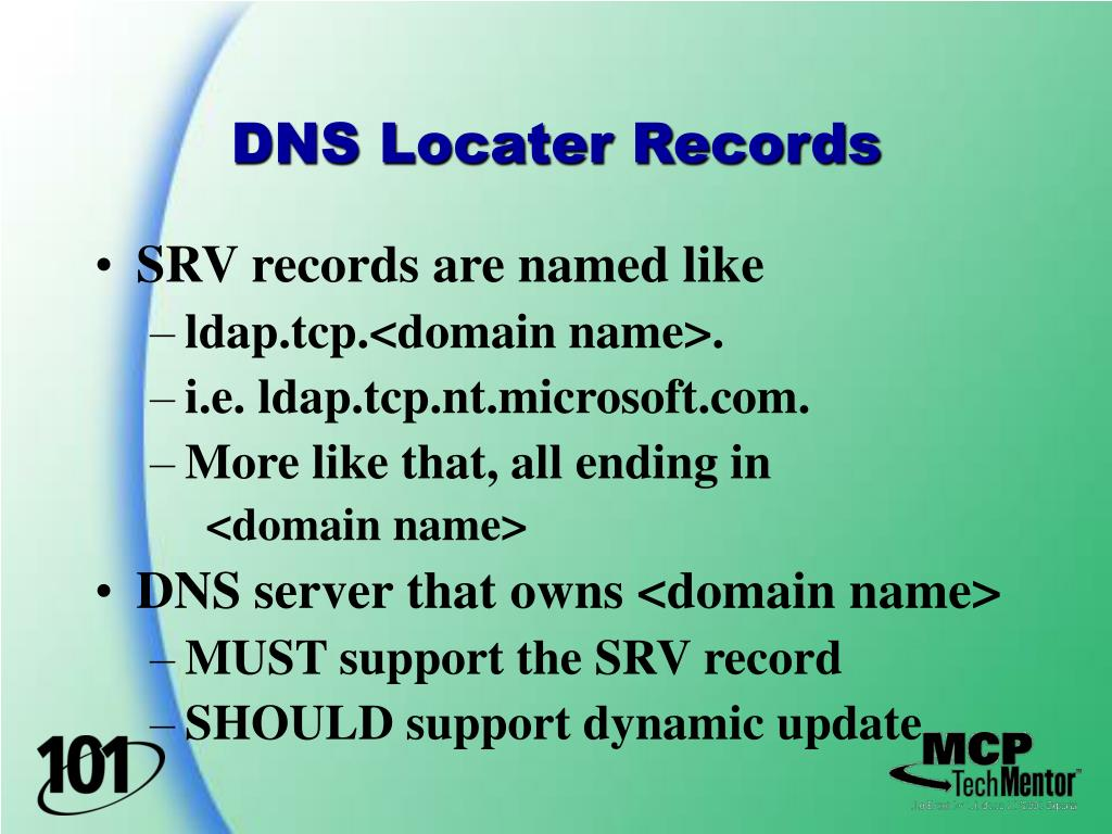 DNS Locater Records