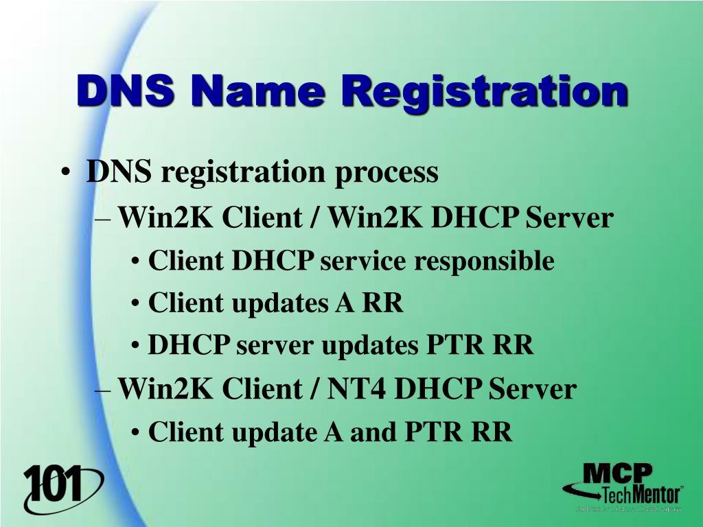 DNS Name Registration