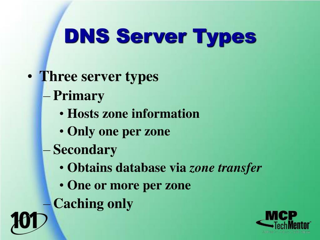 DNS Server Types